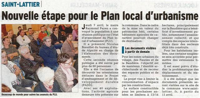 Réunion publique Saint Lattier