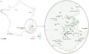 Carte de repérage des études d'Alpicité